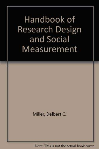 9780582283268: Handbook of Research Design and Social Measurement