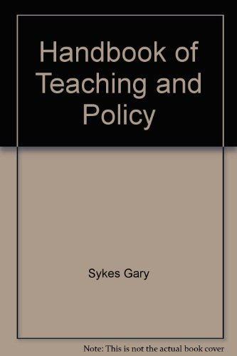 9780582283756: Handbook of teaching and policy