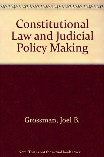 9780582284838: Constitutional Law and Judicial Policy Making