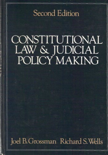 9780582285439: Constitutional law & judicial policy making
