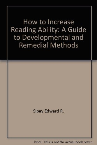 9780582285460: How to increase reading ability: A guide to developmental and remedial methods
