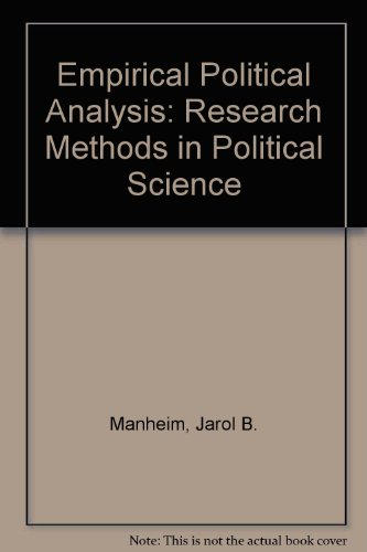 9780582285903: Empirical Political Analysis: Research Methods in Political Science