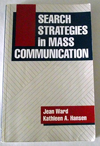 9780582285965: Search Strategies in Mass Communication
