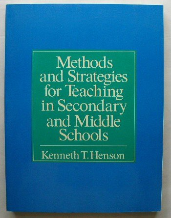 9780582286764: Methods and strategies for teaching in secondary and middle schools