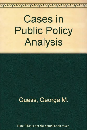 9780582286870: Cases in Public Policy Analysis