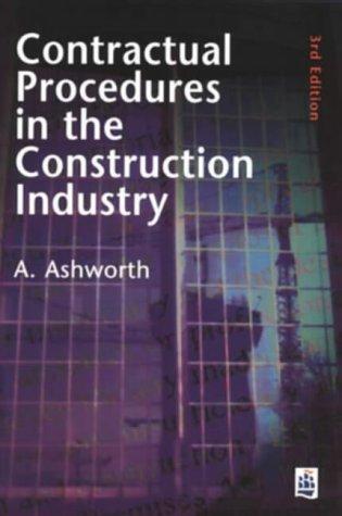 9780582288751: Contractual Procedures in the Construction Industry