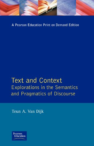 TEXT and CONTEXT: Explorations in the Semantics and Pragmatics of Discourse (LLL)