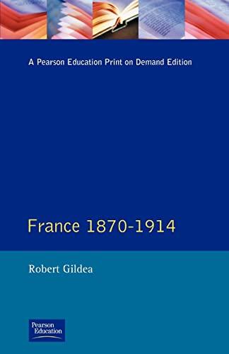 9780582292215: France 1870-1914 (Seminar Studies)
