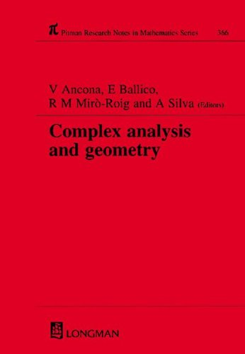 Complex Analysis and Geometry (Research Notes in Mathematics Series)