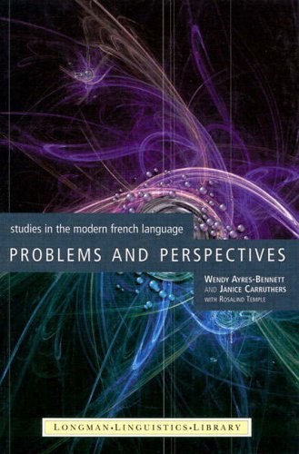 9780582293465: Problems and Perspectives: Studies in the Modern French Language