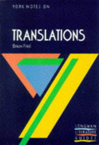 9780582293489: TRANSLATIONS (York Notes)
