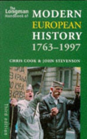 9780582304161: The Longman Handbook of Modern European History, 1763-1997 (Longman Handbook to History)