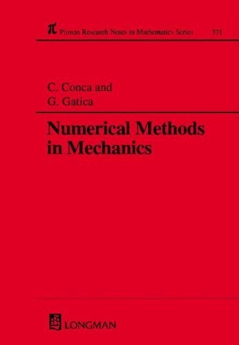 9780582313200: Numerical Methods in Mechanics (Chapman & Hall/CRC Research Notes in Mathematics Series)