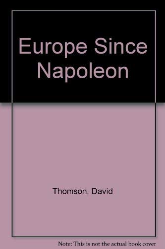 9780582314979: Europe Since Napoleon