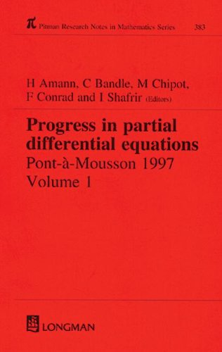 9780582317086: Progress in Partial Differential Equations: Pont-A-Mousson 1997, Volume 384: Pont a Mousson 1997 Vol 1 (Chapman & Hall/CRC Research Notes in Mathematics Series)