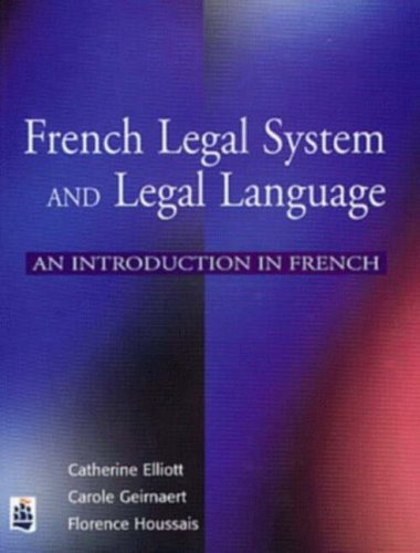 9780582317185: French Legal System and Legal Language: An introduction in French (French Edition)