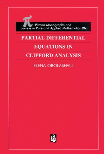 9780582317499: Partial Differential Equations in Clifford Analysis