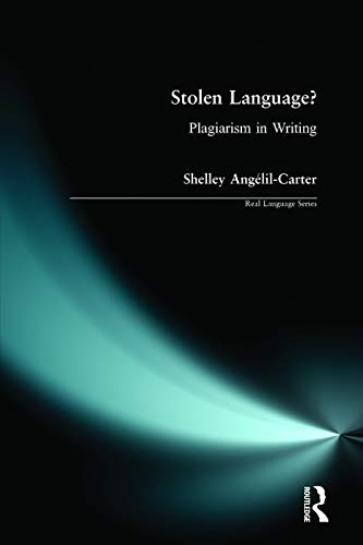 9780582319998: Stolen Language?: Plagiarism in Writing (Real Language Series)