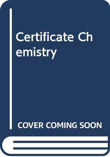 Certificate Chemistry: Atkinson, Arthur