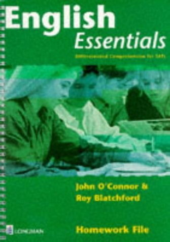 English Essentials: Homework File: Differentiated Comprehension for SATS (0582329795) by O'Connor, John; Blatchford, Roy