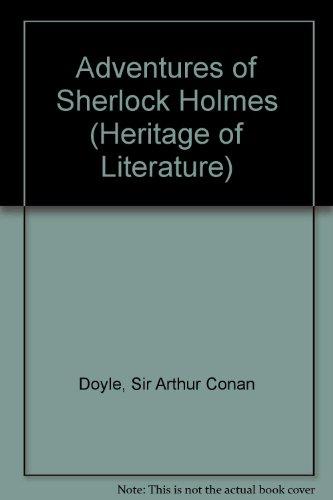 9780582349100: Adventures of Sherlock Holmes (Heritage of Literature)