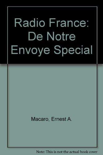 9780582354005: Radio France: De Notre Envoye Special