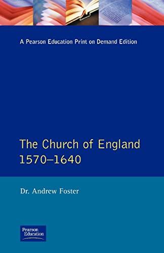 9780582355743: Church of England 1570-1640,The (Seminar Studies)