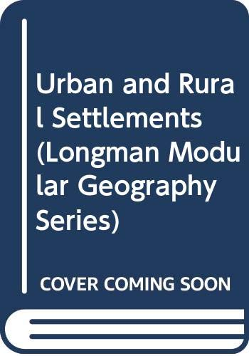 Urban and Rural Settlements (Modular Geography): Carter, Harold