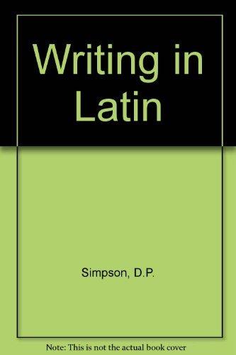 9780582362314: Writing in Latin