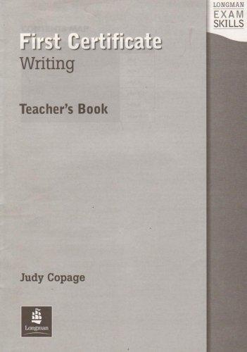 9780582363342: Longman Exam Skills: First Certificate Writing: Teacher's Book