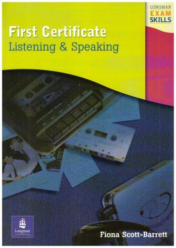 9780582363533: First certificate. Listening and speaking. Per le Scuole superiori (Longman Exam Skills)