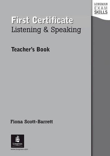 9780582363540: Longman Exam Skills: First Certificate Listening and Speaking: Teacher's Book