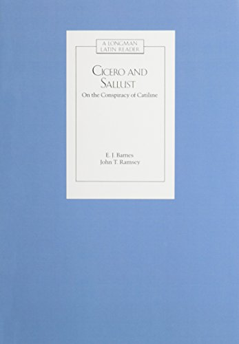 9780582367524: CICERO AND SALLUST: ON THE CONSPIRACY OF CATILINE (Latin Readers)