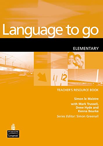 9780582404144: Language to Go: Elementary Resource Book