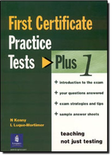 9780582405790: First Certificate English Practice Tests: Plus No Key