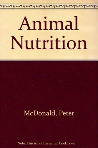 9780582409033: Animal Nutrition