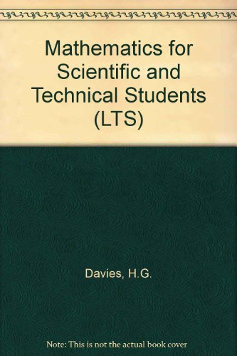 9780582410749: Mathematics for Scientific and Technical Students (LTS)