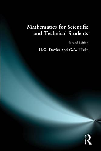 9780582413887: Mathematics for Scientific and Technical Students