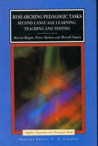 9780582414822: Researching Pedagogic Tasks: Second Language Learning, Teaching and Testing (Applied Linguistics and Language Study)