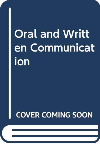 9780582422254: Oral and Written Communication
