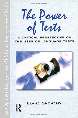 9780582423350: The Power of Tests (Language in Social Life)