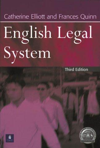 9780582423534: English Legal System