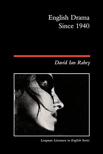 9780582423725: English Drama Since 1940