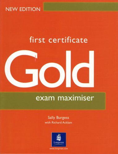 9780582429703: First Certificate Gold: Exam Maximiser without Key