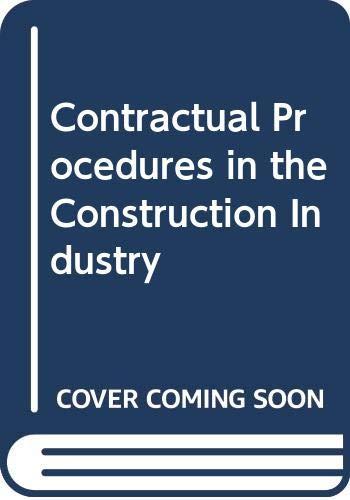 9780582432239: Contractual Procedures in the Construction Industry