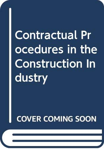 9780582432239: Contractual Procedures in the Construction Industry