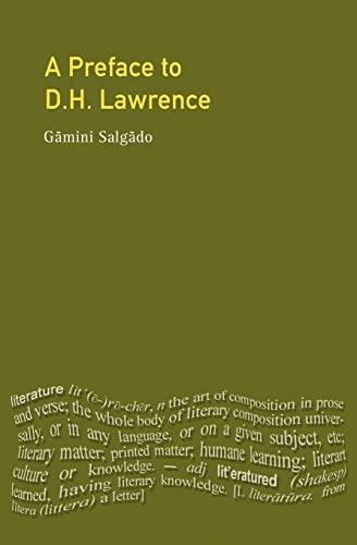 A Preface to D. H. Lawrence (Perface: Salgado, Gamini
