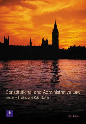 9780582438071: Constitutional and Administrative Law