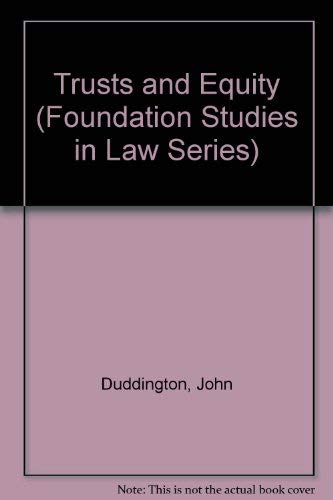 9780582438101: Trusts and Equity (Foundation Studies in Law Series)