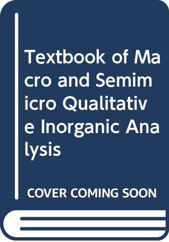 9780582443679: Vogel's Textbook of Macro and semimicro qualitative inorganic analysis